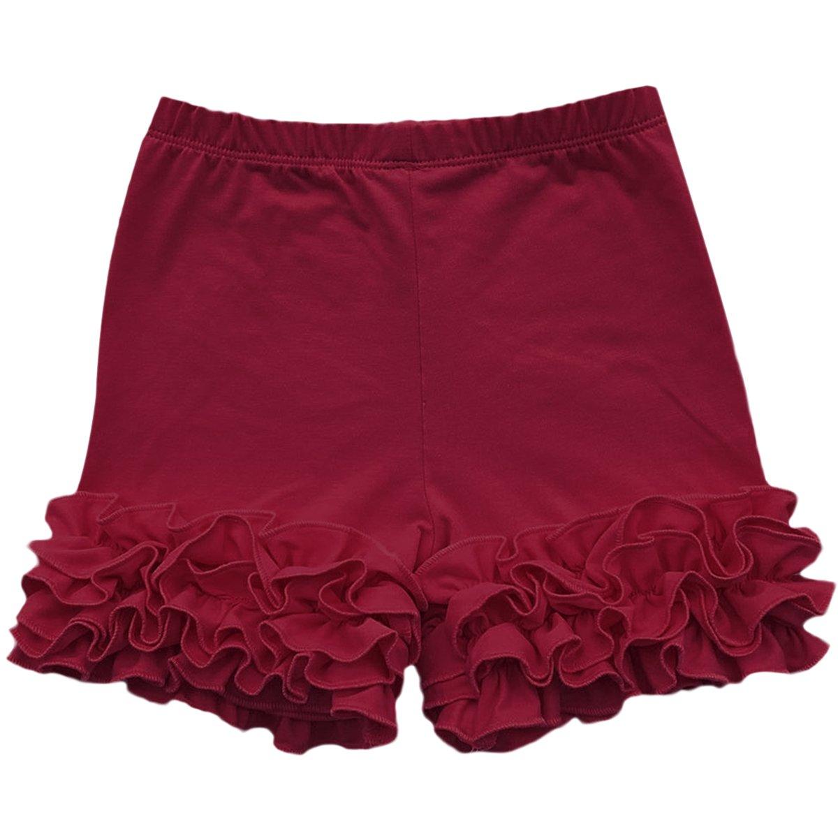 IWEMEK Little Girl Double Icing Ruffle Cotton Shorts Bike Sport Bottom Pants Activewear
