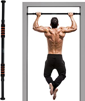 Qi Kang Barres de Traction Pull Up Bar en Acier Inoxyable pour Cadre de Porte pour Porte Int/érieure de 66 /à 99 Cm de Largeur Charge Maximale 200 Kg
