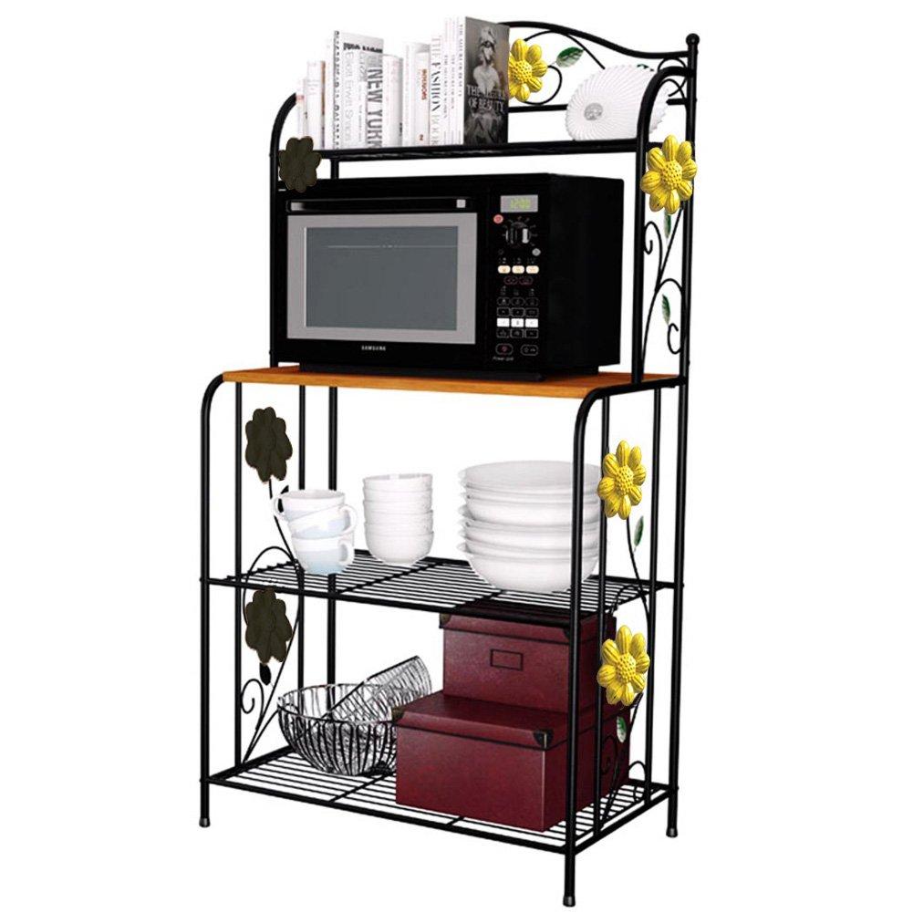 Amazon.com: Yontree 4 Tier Kitchen Bakeru0027s Rack Utility Microwave Oven Stand  Storage Cart Workstation Shelf: Home U0026 Kitchen