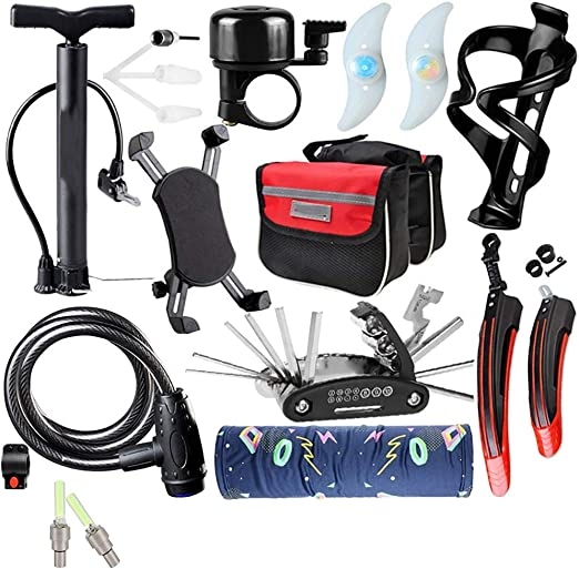 XJLLOVE Cycling Equipment Accesorios para Bicicleta de montaña Set ...