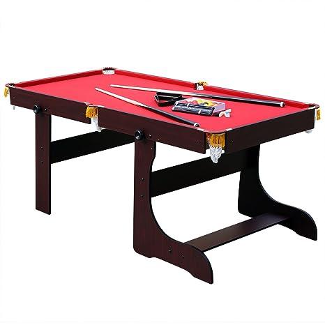 Tavolo Da Biliardo Richiudibile.Hj Jh 6ft Tavolo Da Biliardo Pieghevole Professionale Con Palline