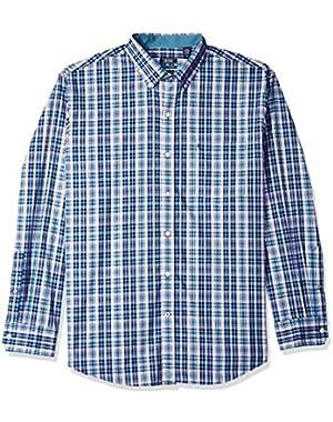 Men's Essential Plaid Long Sleeve Shirt