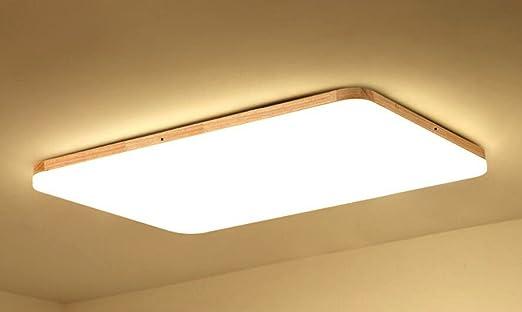 Azanaz Deckenleuchte Holz Bad Deckenlampe Sora Wood mit warmweißem ...