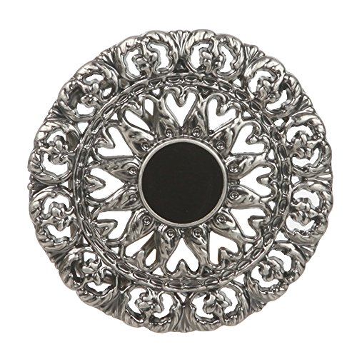 Western Round Perforated Floral Belt Buckle