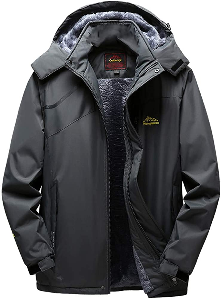 Mens Plus Size Coat Winter Cashmere Thicken Hoodie Zipper Sport Outdoor Coats Plus Velvet Paded Cotton Jacket L-5XL
