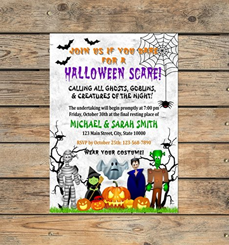 Amazon custom halloween party invitations personalized custom halloween party invitations personalized halloween bash birthday party invitations halloween costume party invites filmwisefo