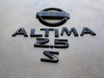 amazon com 03 06 nissan altima 2 5s rear trunk black painted badgeNissan Altima Emblems #16
