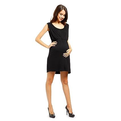 Vestido de Lactancia y Premamá Ropa de Embarazada Talla L Color Negro