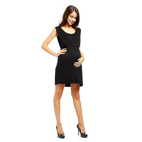 ee868cfe6 Vestido de Lactancia y Premamá Ropa de Embarazada Talla L Color Negro