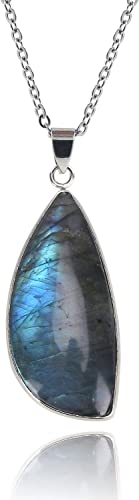 Labradorite Crystal Stone,Labradorite Crystal Quartz,Blue Stone,Crystal Quartz,Healing Crystal and Stone,Love Stone,Gift for Her,Pendant,