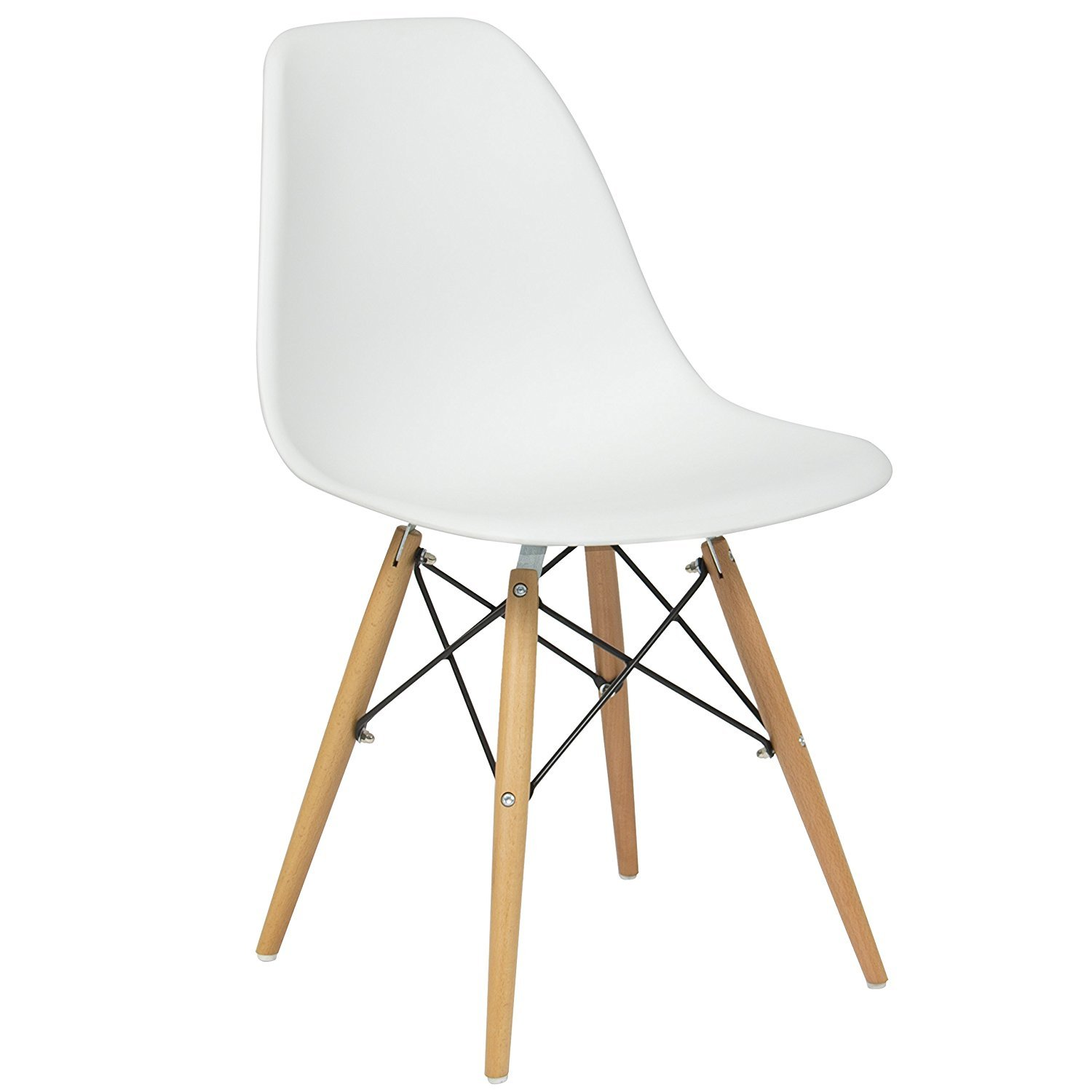 Eames style dining chairs armless accent chairs effiel mid century modern dsw chair with wood dowel legs legs for dining room waiting room bedroom kitchen