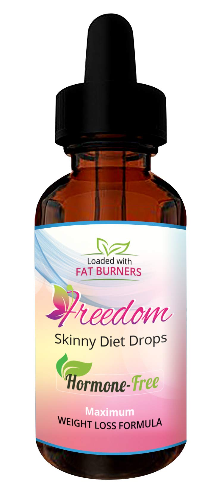 Freedom Weight Loss Diet Drops - Fat Burning Drops Hormone Free 2 oz Bottle.