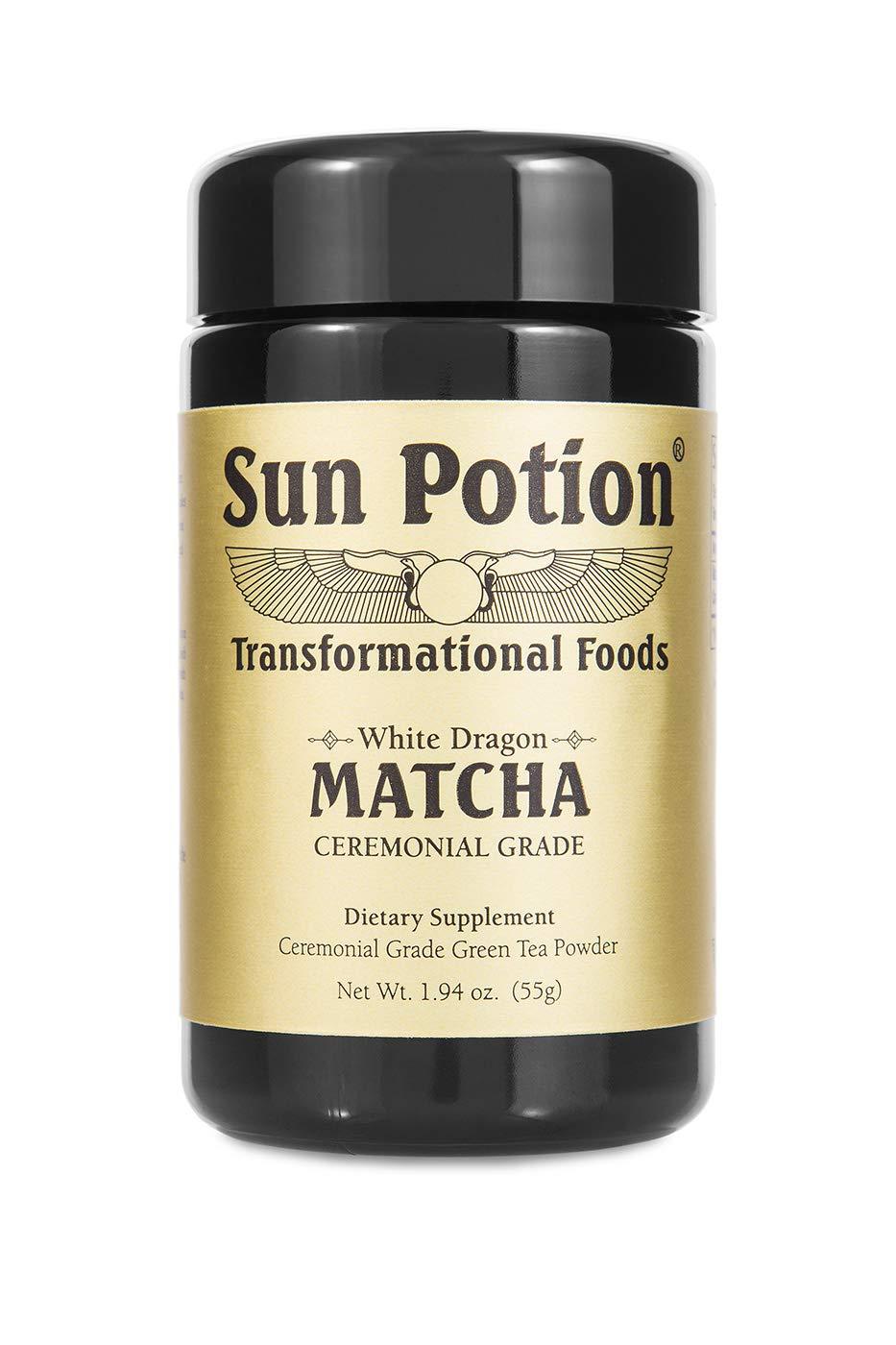 Sun Potion White Dragon Matcha - Ceremonial Grade Green Tea Powder (55g) by Sun Potion