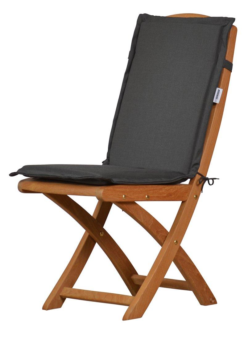 6 x Anthrazit graue Sitzauflage für Garten-Stühle & Klappstühle, 88 ...