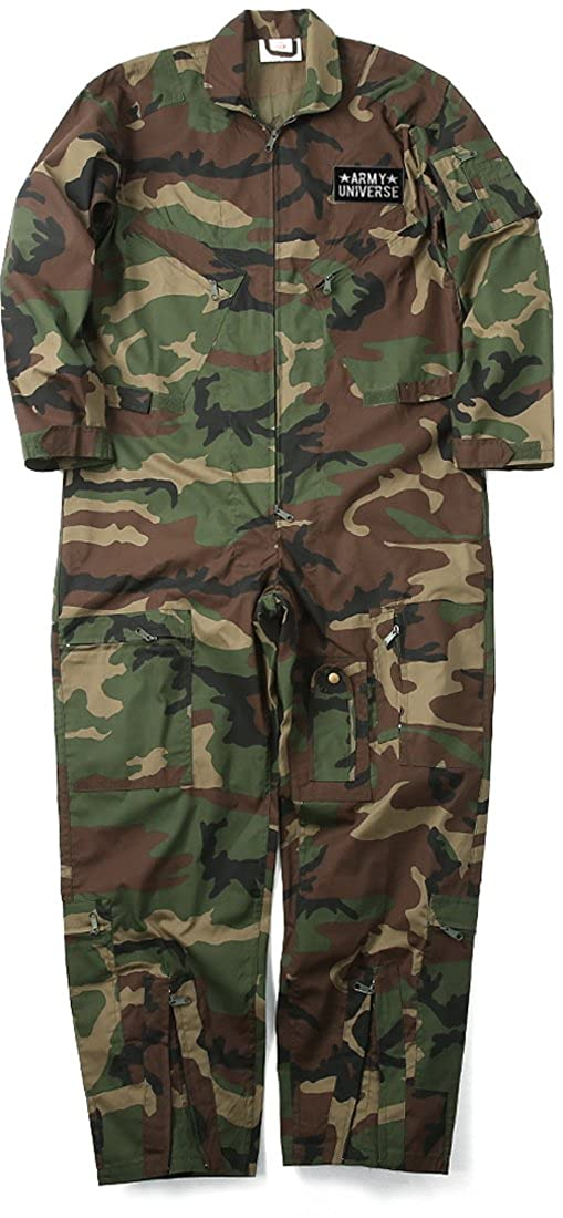 Amazon.com  Army Universe Mens Woodland Camo US Air Force Style Paintball  Flight Suit Coveralls with Patch  Clothing ef5b4110dc5