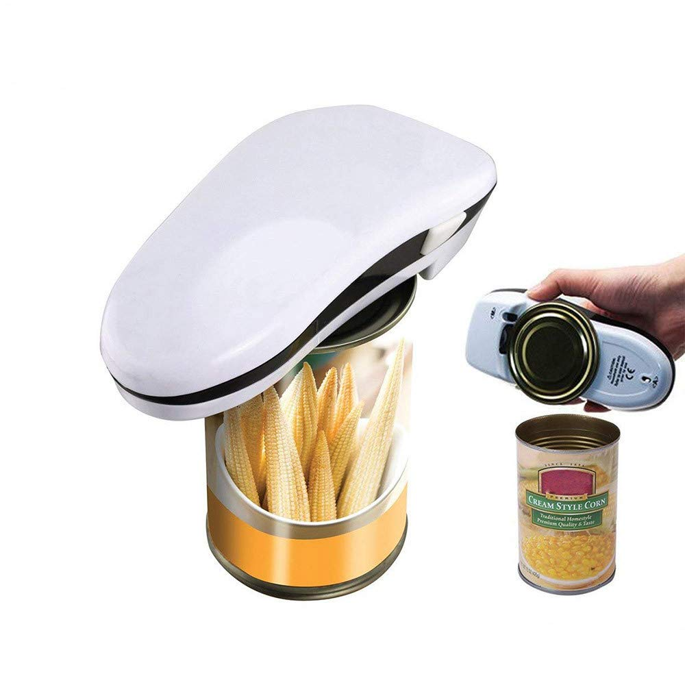 lotus.flower Electric Can Opener, Batteries Operated Smooth Soft Edge with One-Touch Start Automatic Can Opener, Restaurant can Opener for Arthritis Individuals, Seniors, Chef