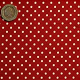 Red 3mm Polka Dot Fabric 1 Metre 100 % Cotton Spotty.