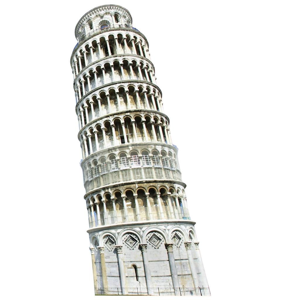 Italy Leaning Tower of Pisa - Italy Party Theme - Advanced Graphics Life Size Cardboard Standup