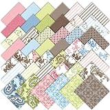 Moda Windsor Lane Charm Pack, Set of 42 5-inch (12.7cm) Precut Cotton Fabric Squares