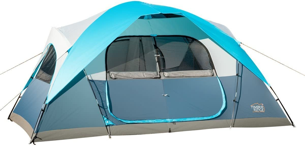Timber Ridge Large Family Tent for C&ing with Carry Bag 2 Rooms  sc 1 st  Amazon.com & Family Camping Tents | Amazon.com