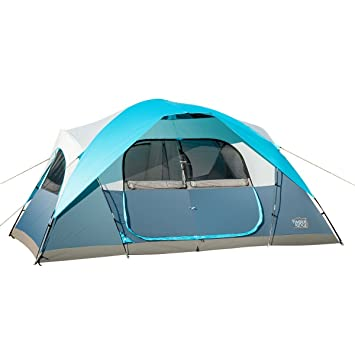 Timber Ridge Large Family Tent For Camping With Carry Bag 2 Rooms