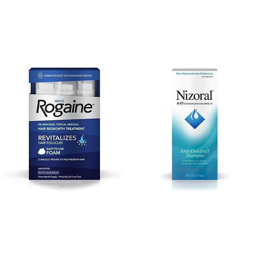 Rogaine Men's Foam (3 mth) + Nizoral (4 oz)