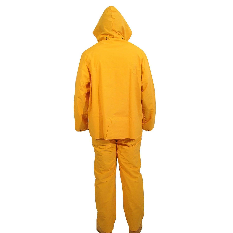 Amazon.com: Traje de lluvia de 3 piezas, color amarillo ...