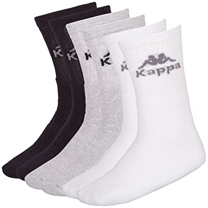 Kappa - Calcetines (6 pares) blanco/gris/negro Talla:35-