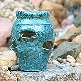 Round Ceramic Strawberry Jar with 6 Pockets