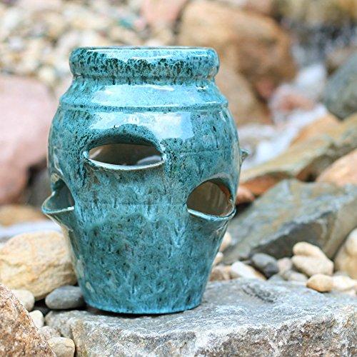 Round Ceramic Strawberry Jar Pockets product image