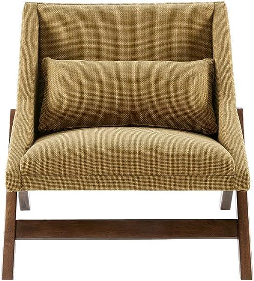 INK+IVY Boomerang Mustard Yellow, Modern, Family Room Sofa Furniture,  30.25\