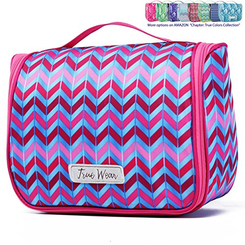 Chapter: True Colors Collection. Large Makeup & Cosmetic Hanging Toiletry Bag Travel Organizer for Men & Women - Ibiza Late Party