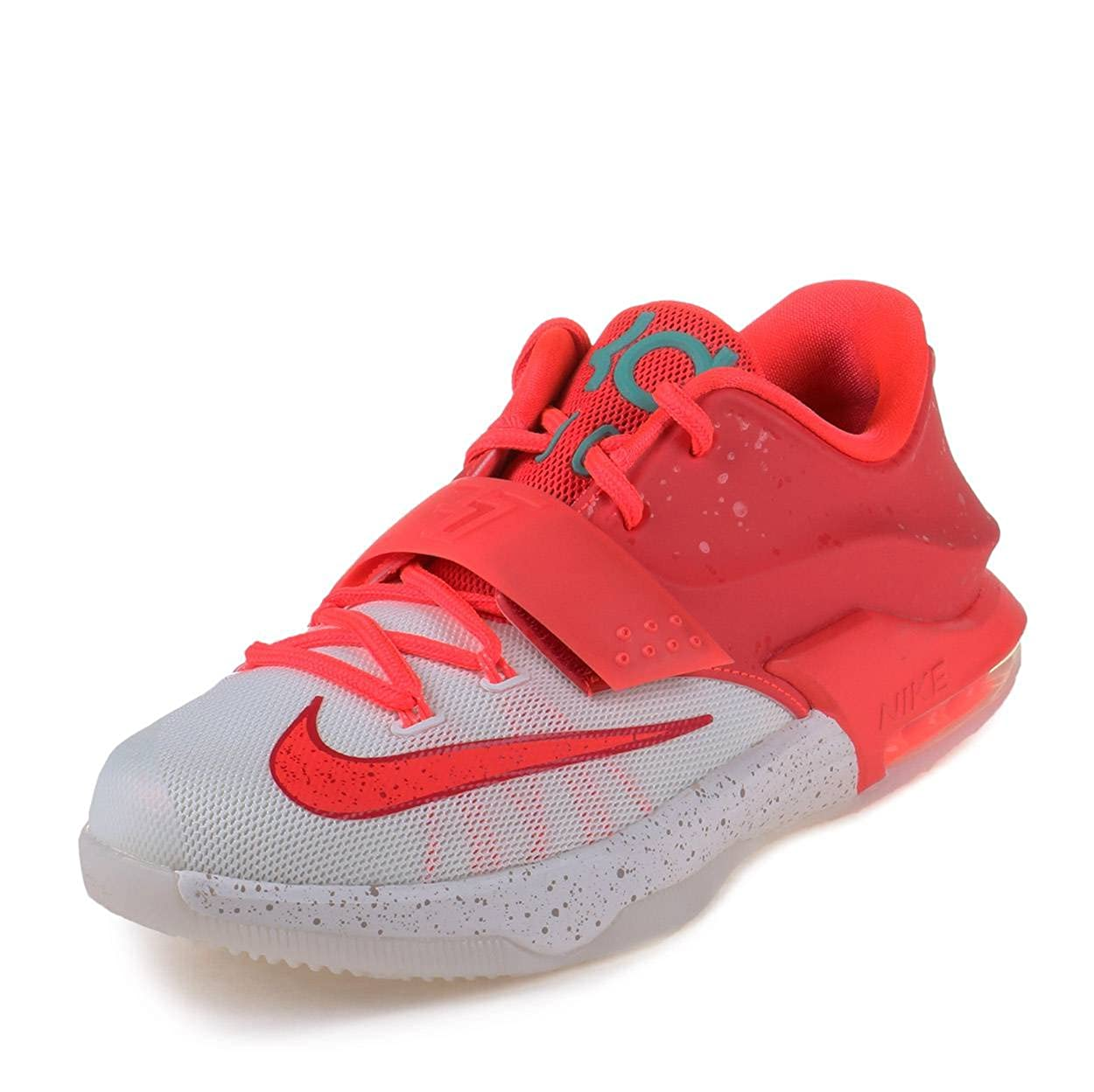wholesale dealer 709cb 6d547 Amazon.com   NIKE Boys KD VII (GS) Christmas Bright Crimson Ivory-Emerald  Grn Synthetic Size   Basketball