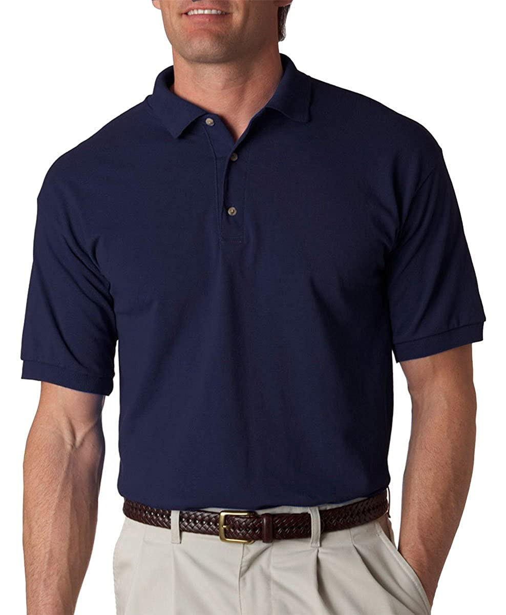 Gildan Ultra Cotton Mens Jersey Polo 2800 Navy X Large At Amazon