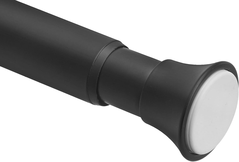 AmazonBasics - Barra de tensión para cortina de ducha, 198 a 274 cm, negro: Amazon.es: Hogar