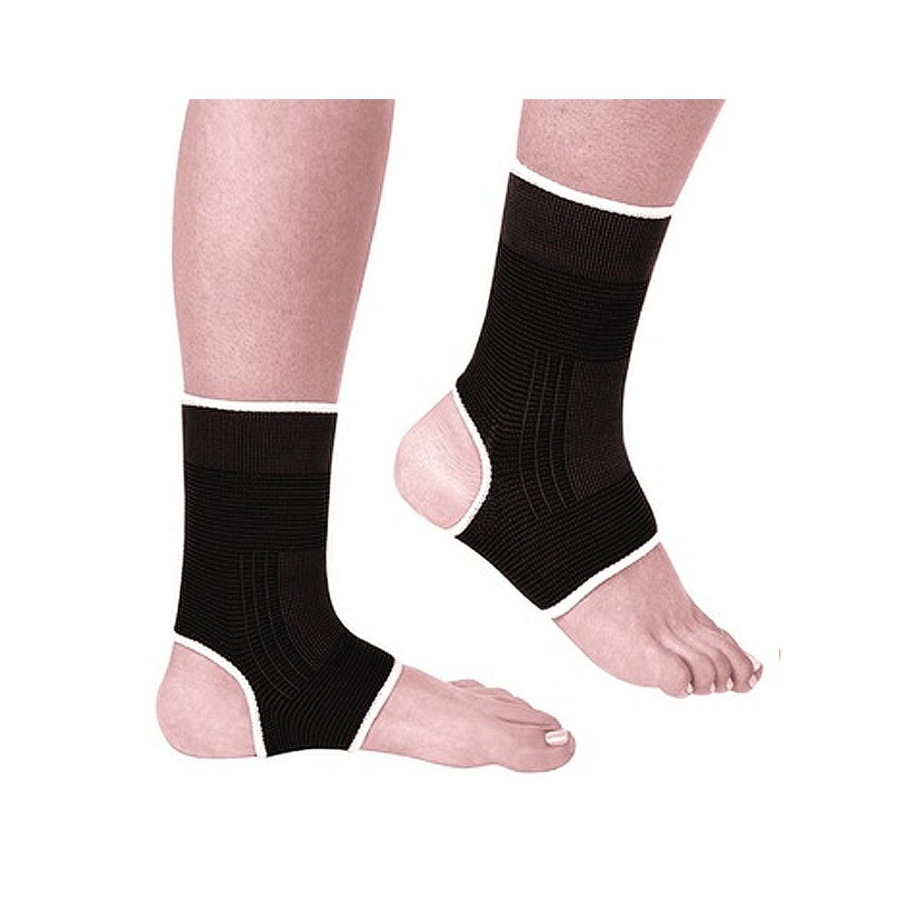 PU Health Physiotherapy Ankle Support Compression Therapy Anklets for Athletes, Black, 0.2 Pounds