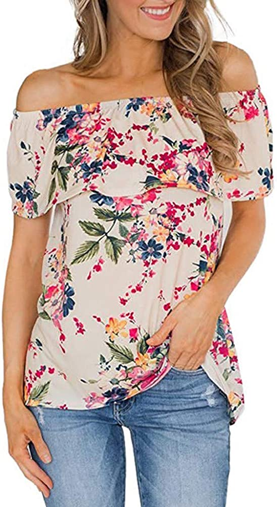 Camisetas para Mujer Verano Manga Cortas Casual 2019 PAOLIAN ...