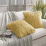 Decorative Pillow Cover - PHANTOSCOPE Decorative New Luxury Series Merino Style Fur Throw Pillow Case Cushion Cover 18