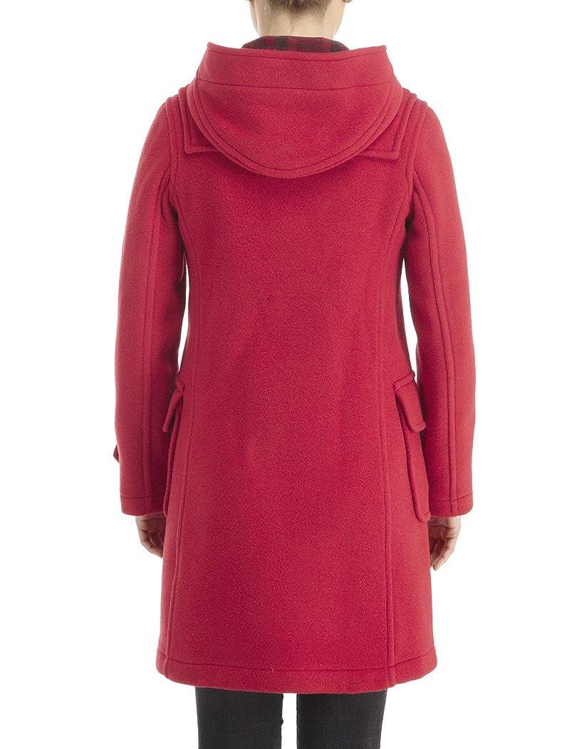 British Duffle damen Long Duffle Coat - - - rot BDLrot001 - 42 eba72d