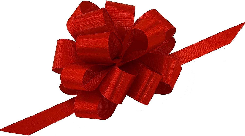 KUUQA 30 Pi/èces Grand Pull Noeuds Noeud Pr/ésent Noeud avec des Cordes de Ruban pour la D/écoration de No/ël Rouge//Jaune//Vert