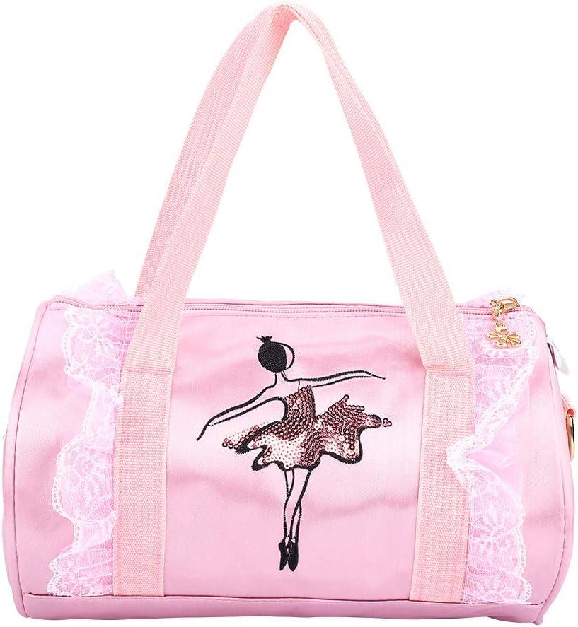 Girls Large Pink Ballet Dance Hand Shoulder Travel Bag By Katz Dancewear KB6