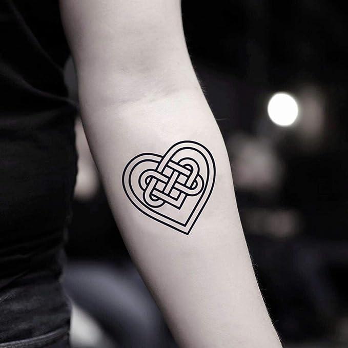 Tatuaje Temporal de Corazón celta (2 Piezas) - www.ohmytat.com ...