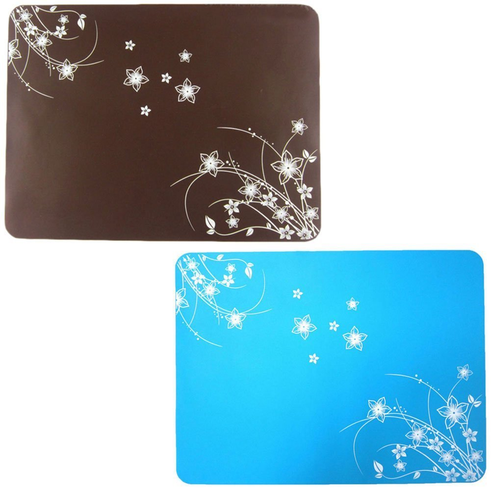 "Lesirit Waterproof and Non-slip Silicone Kids Placemat,15.7"" By11.8, Pack of 2 (A) 15.7"" By11.8"