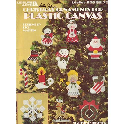 christmas ornaments for plastic canvas leaflet 256 - Plastic Canvas Christmas Ornaments