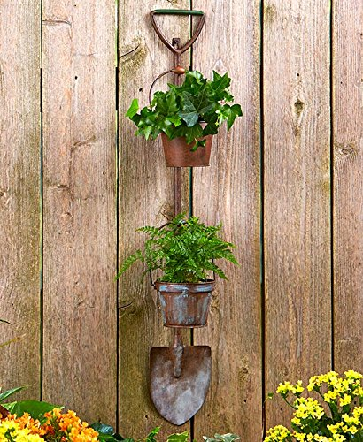 Country Farm Garden Wall Hanging Decor Rustic Metal Planters (shovel)