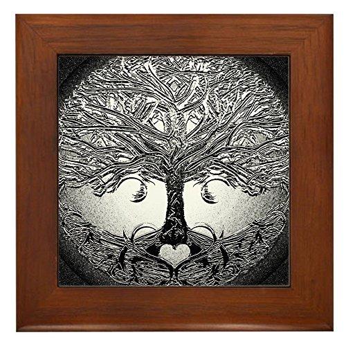 CafePress - Tree of Life Bova - Framed Tile, Decorative Tile Wall Hanging
