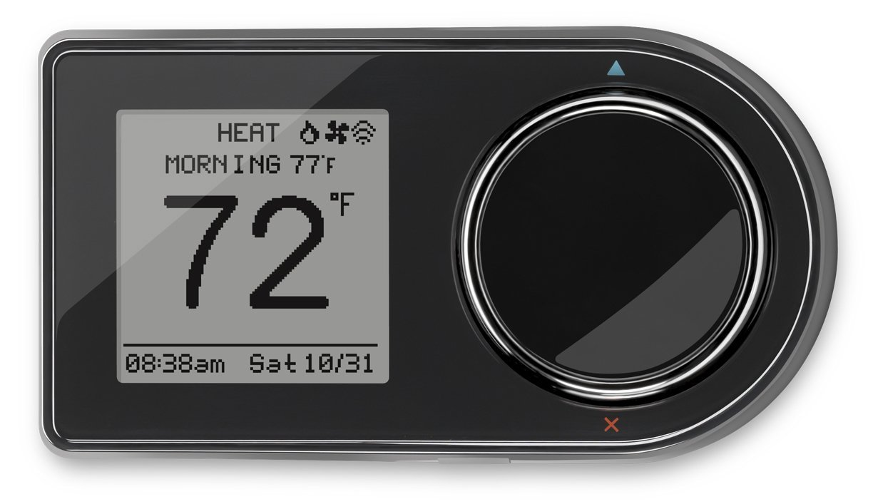 Lux Products GEO-BL Wi-Fi Thermostat, Black, Works with Amazon Alexa