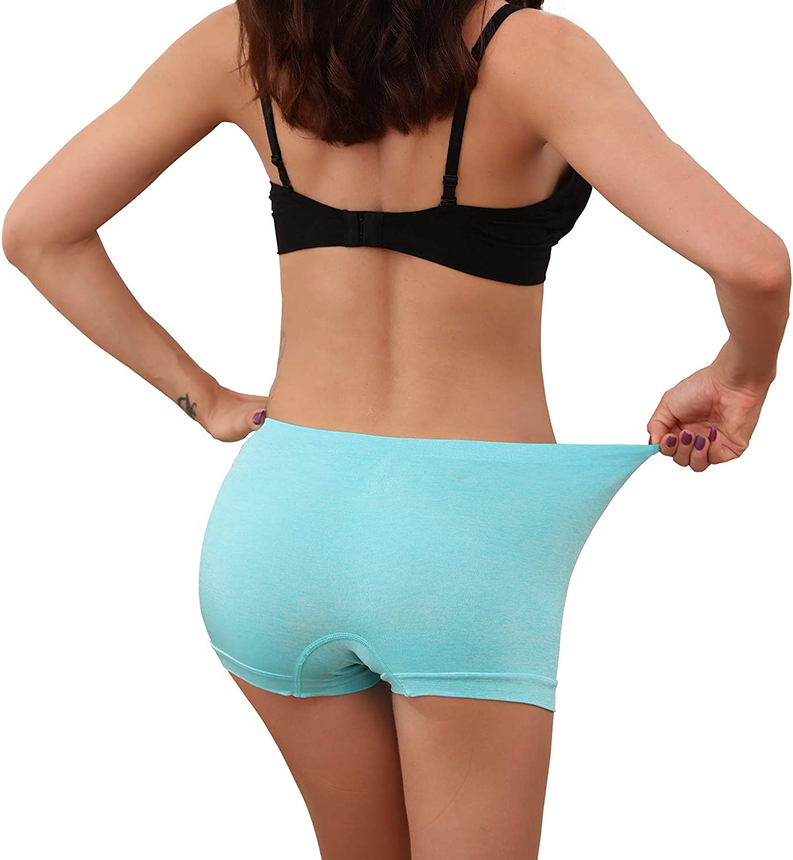 Love My Fashions/® Women Seamless Boy Short Panties Ladies Knickers Pants Denim Style Causal Cotton Underwear Stretch Boxer Shorts Summer Briefs Size S M L XL