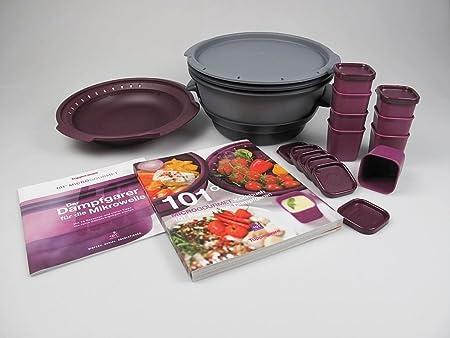 Tupperware Microondas Micro Gourmet gris, Vapor, moldes Lila (8 ...