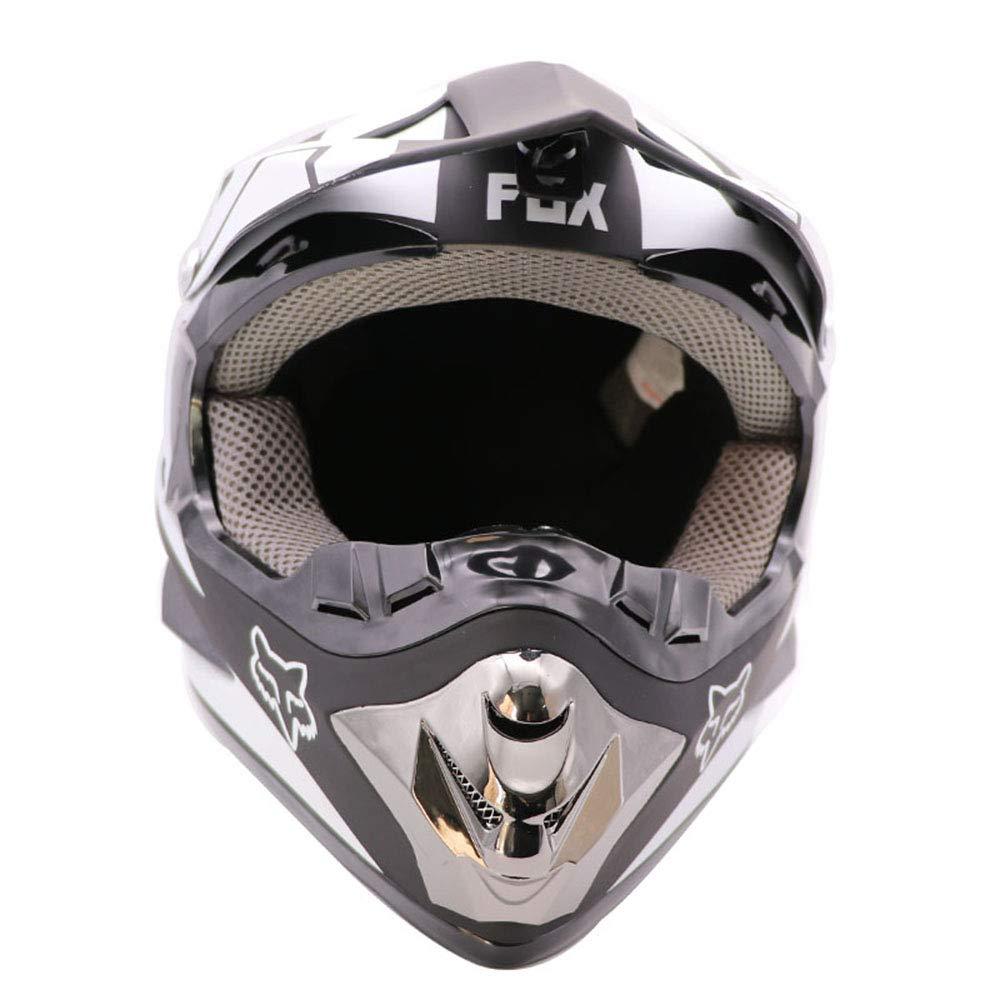 ZJRA Casque Blanc Casque de Moto pour Homme et Femme Adulte,S53~54cm Casque de Motocross Enduro Moto Hors Route VTT Moto MX